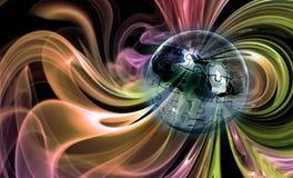 Rompecabezas del globo en fondo abstracto Imágenes de archivo libres de regalías