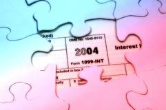 Rompecabezas del impuesto Fotografía de archivo libre de regalías