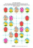 Rompecabezas del sudoku de la imagen, Pascua temática stock de ilustración