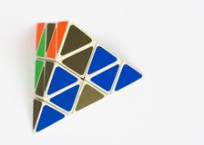 Rompecabezas del tetraedro Fotografía de archivo