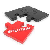 Rompecabezas desensamblado de la solución. Imagen de archivo