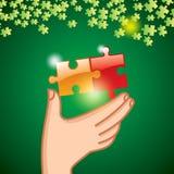 Rompecabezas a disposición Imagen de archivo libre de regalías