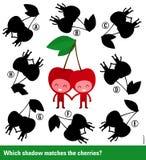 Rompecabezas educativo de los niños con el carácter lindo de la cereza libre illustration