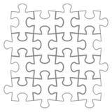 Rompecabezas Ejemplo del vector del rompecabezas blanco Fotos de archivo libres de regalías