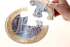 Rompecabezas euro Foto de archivo