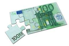 Rompecabezas euro Fotografía de archivo libre de regalías