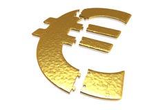 Rompecabezas euro de oro Fotografía de archivo