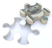 Rompecabezas financiero de las soluciones Imagen de archivo