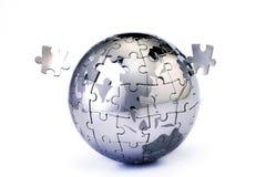 Rompecabezas incompleto del globo Imagen de archivo libre de regalías