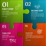 Rompecabezas Infographic Plantilla con el texto explicativo Imagenes de archivo