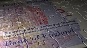 Rompecabezas inglés de la libra Fotografía de archivo