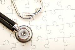 Rompecabezas médico Fotografía de archivo libre de regalías