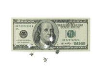 Rompecabezas monetario Fotografía de archivo