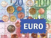 Rompecabezas monetario euro Fotografía de archivo libre de regalías