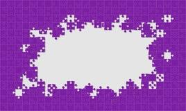 Rompecabezas púrpura del fondo Marco del rompecabezas ilustración del vector