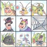 Rompecabezas para los cabritos del insecto vivos Imágenes de archivo libres de regalías