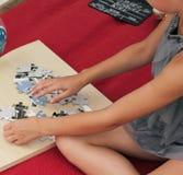 rompecabezas plegables Imágenes de archivo libres de regalías