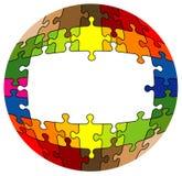Rompecabezas redondeado colorido Fotografía de archivo libre de regalías