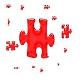 Rompecabezas rojo Fotografía de archivo libre de regalías