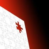 Rompecabezas sobre rojo stock de ilustración