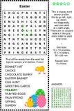 Rompecabezas temático del wordsearch de Pascua