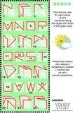 Rompecabezas visual - encuentre la vista superior de los cubos de cristal con los wireframes Foto de archivo libre de regalías