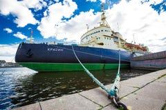 Rompehielos Krasin St Petersburg imagen de archivo
