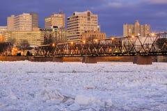 Rompendo ghiaccio a Harrisburg fotografia stock libera da diritti