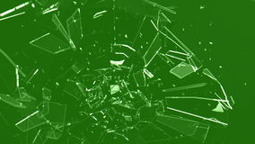 Rompendo vetro - schermo verde archivi video