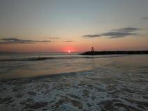 Rompeolas海滩Aquadillia波多黎各2018年 库存照片