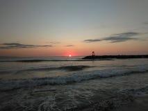 Rompeolas海滩Aquadillia波多黎各2017年 库存图片