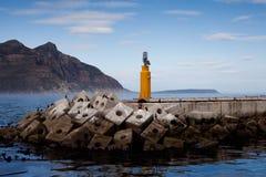 Rompeolas de la bahía de Hout Foto de archivo
