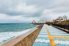 Rompeolas de Okinawa fotos de archivo libres de regalías