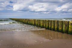 Rompeolas del mar Báltico Imagen de archivo