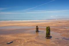 Rompeolas resistidos de la playa en hacia el oeste Ho Foto de archivo libre de regalías
