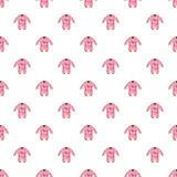 Romper for baby pattern Royalty Free Stock Images