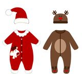 Romper suit. Christmas costumes for children. Stock Photo
