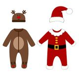 Romper suit. Christmas costumes. Royalty Free Stock Images