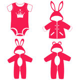 Romper suit. Collection. Royalty Free Stock Photos