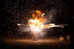 Rompersi ardente realistico di esplosione fotografia stock libera da diritti