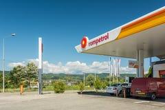 Rompetrol-Gas Lizenzfreie Stockbilder