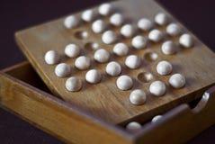 Rompicapo di cervello di legno Fotografie Stock