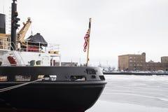 Rompighiaccio, nave, barca immagine stock