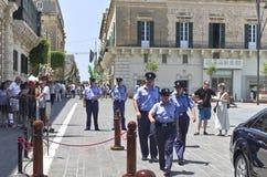 瓦莱塔,马耳他– 7月11 :埃尔曼范Rompuy参观马耳他 库存照片