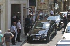 瓦莱塔,马耳他– 7月11 :埃尔曼范Rompuy参观马耳他 图库摄影