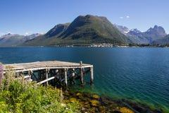 Romsdalsfjorden около Andalsnes в южной Норвегии Стоковые Изображения
