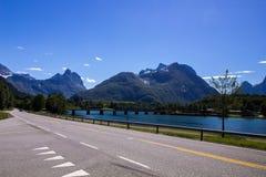 Romsdalsfjorden около Andalsnes в южной Норвегии Стоковое фото RF