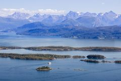 Romsdalsfjorden near Molde in South Norway Stock Images