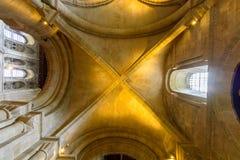 Romsey Abbey Aisle Gothic Vault Fotos de archivo