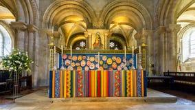 Romsey Abbey Altar Fotografía de archivo